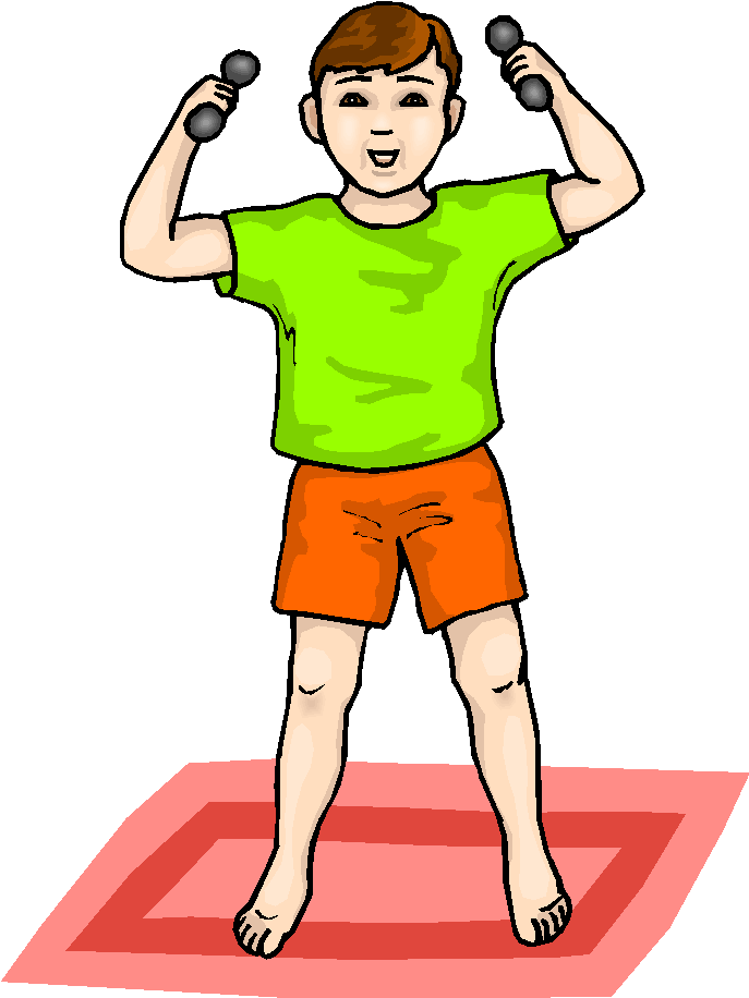 Boy Lifting Weights Free Clipart | Free Microsoft Clipart