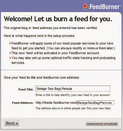 Cara Daftar Feedburner di Google