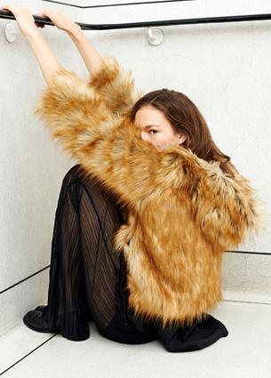 chaqueta de pelo mujer de Zara