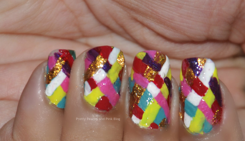 RALLI MANICURE using flat nail art brushes