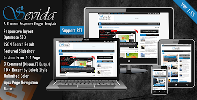 Download Sevida v1.55 premium responsive blogger template for free.