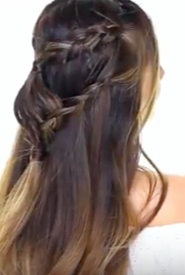 A Lazy Girl Hairstyle For Back To School - Diamond Headband Braid Tutorial