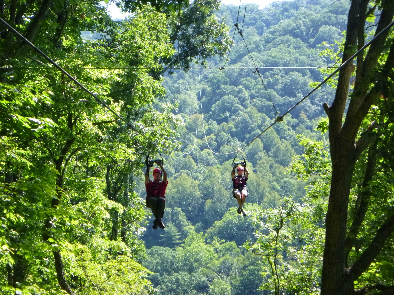 Ziplining with my brother