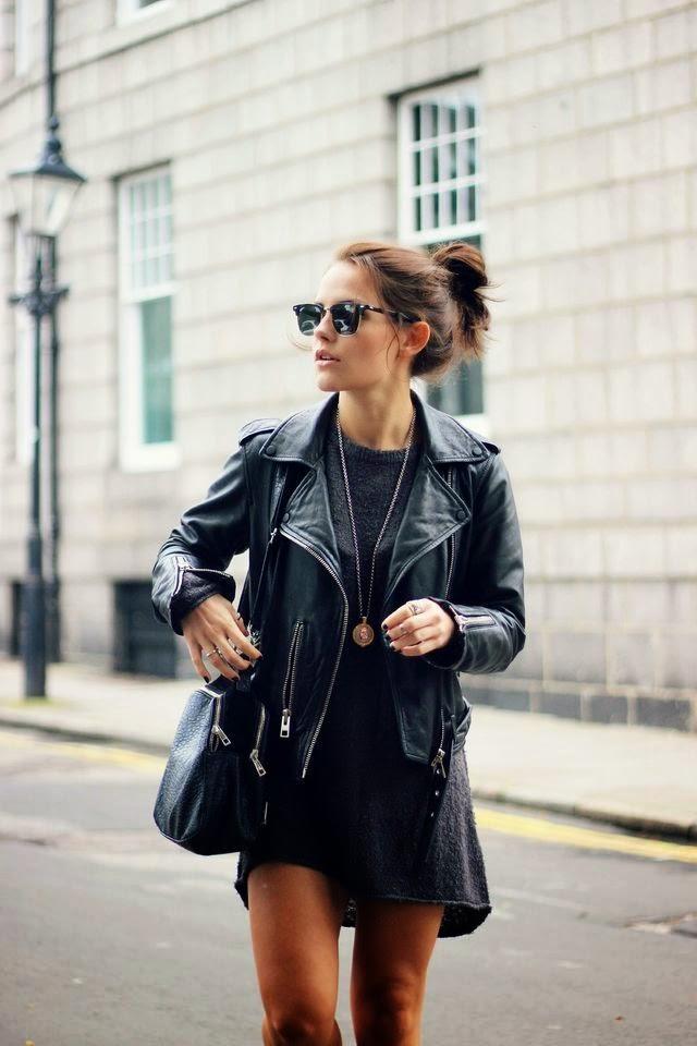 moda, roupas da moda jaqueta de couro