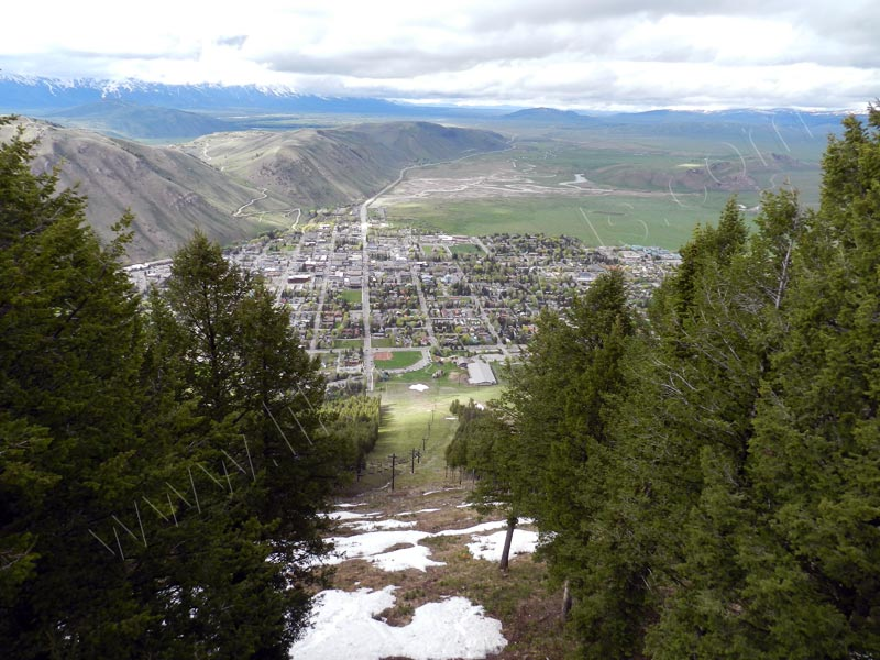 Jackson Hole - view from Snow King Mountain