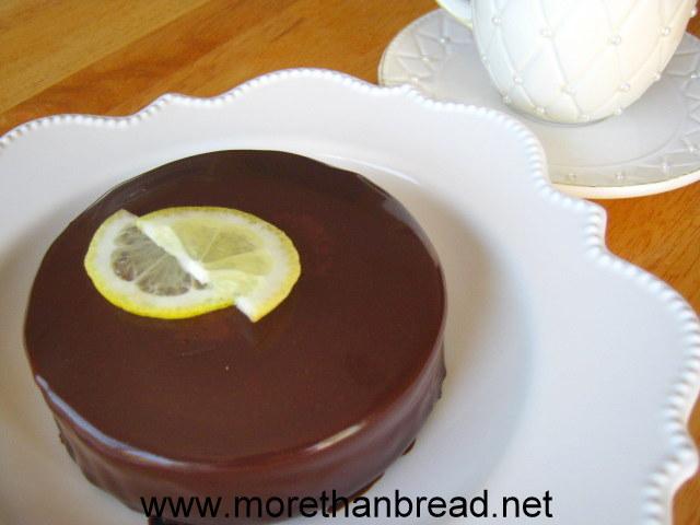 Lemon Chiffon Cake with Ginger Mousse 薑汁慕絲雪紡蛋糕