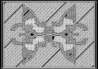 pixel art, macpaint, old school, B/W, computer art, UNTITLED 7