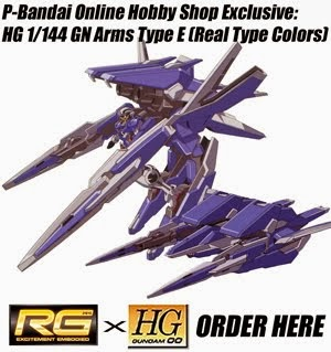 HG 1/144 GN Arms Type E (Real Type Colors) [Premium Bandai Online Hobby Shop Exclusive]