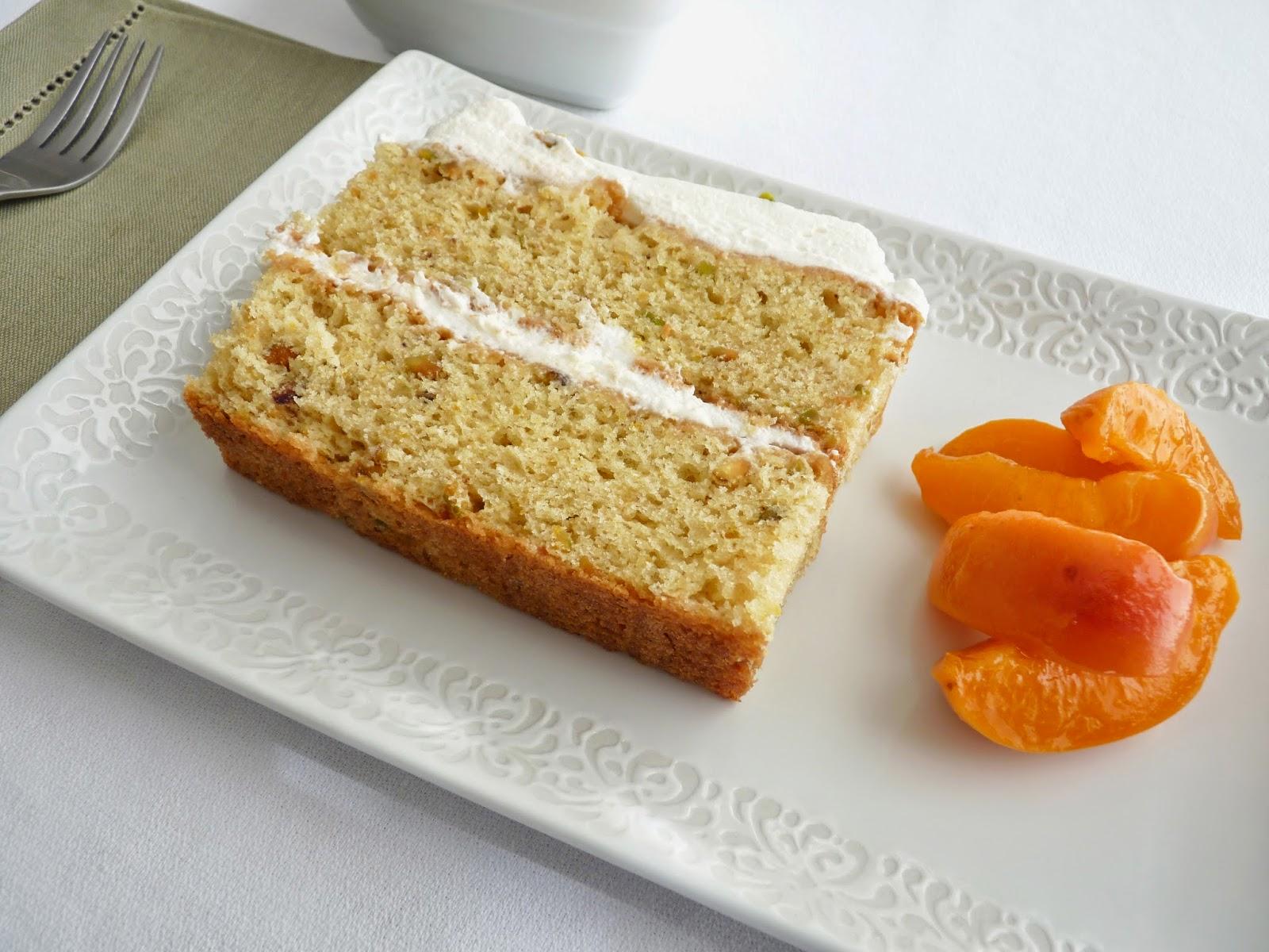 pastry studio: Pistachio Cake with Nougat Cream