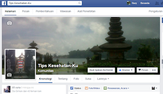 contoh halaman facebook