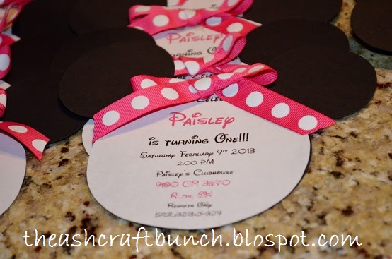 Diy Minnie Mouse 1st Birthday Invitations Diy Minnie Mouse Birthday