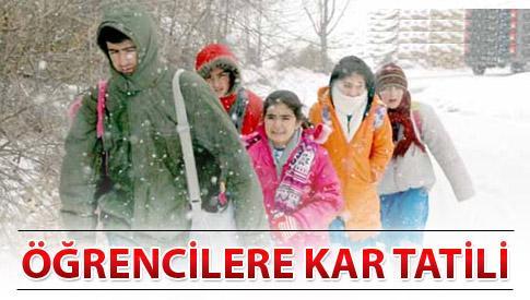 8-9 Ocak 2013 Okullar Tatil mi ? Hangi iller tatil edildi ? Kaç Gün sürecek ?
