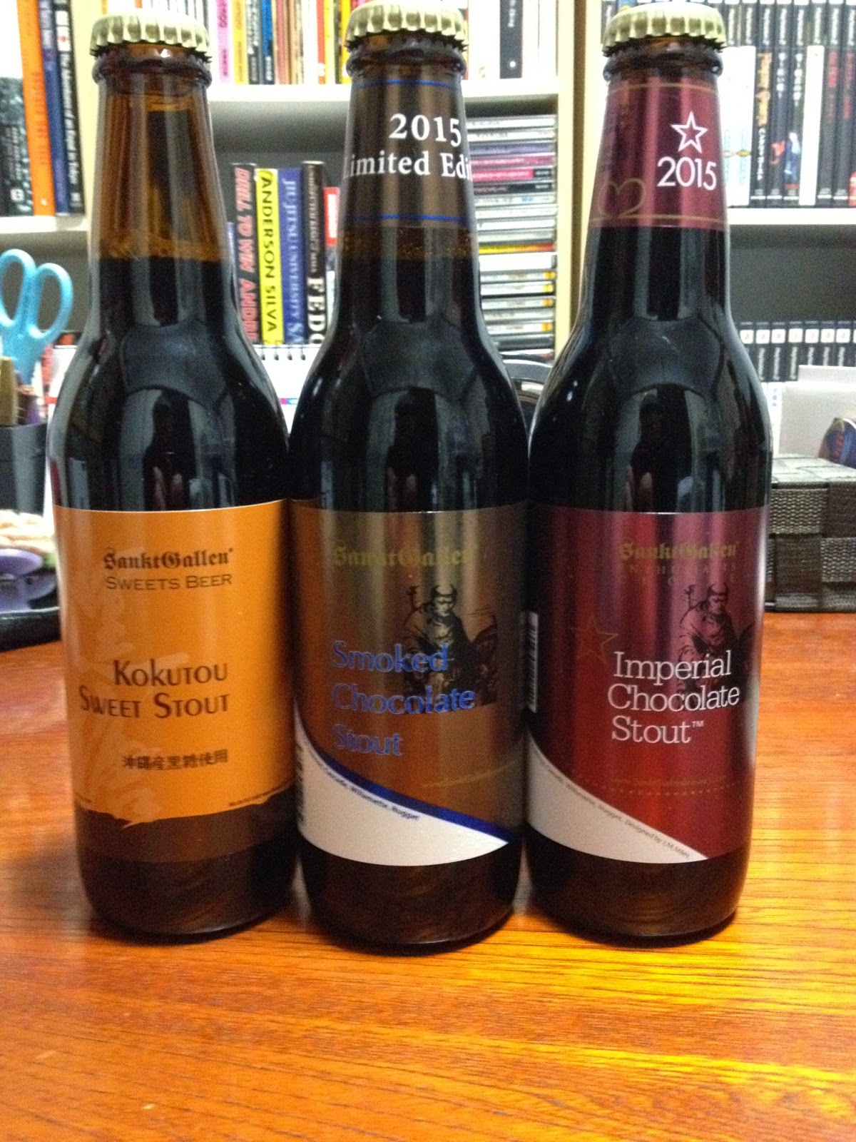 these three excellent beers are from kanagawas sanktgallen bewery they can be bought in the second floor basement of takashimaya at jr nagoya station and
