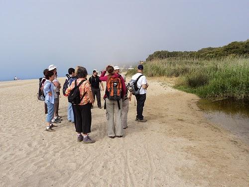 Desembocadura del riu Gaià a la platja de Tamarit. Foto de  Secció Natura UES