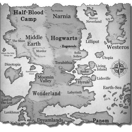 Un mapa de fantasia