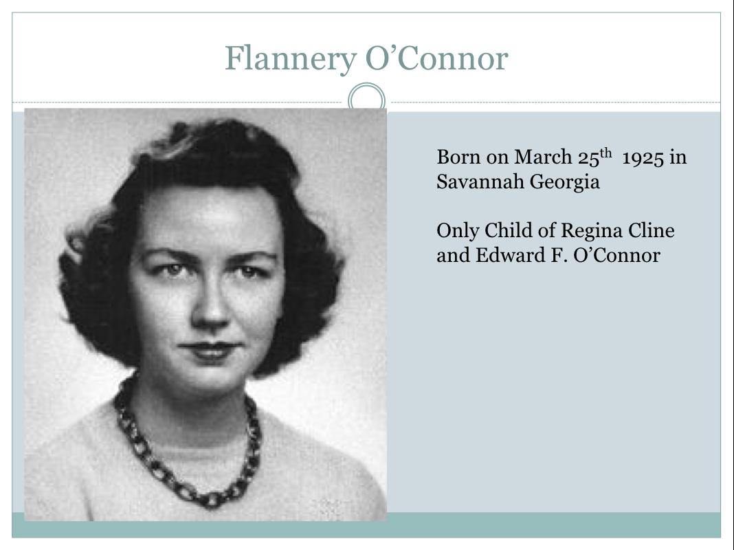 flannery o connor essay pdf