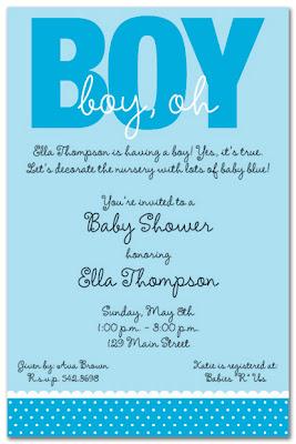 wedding invitations and baby shower invitations share Boy Baby
