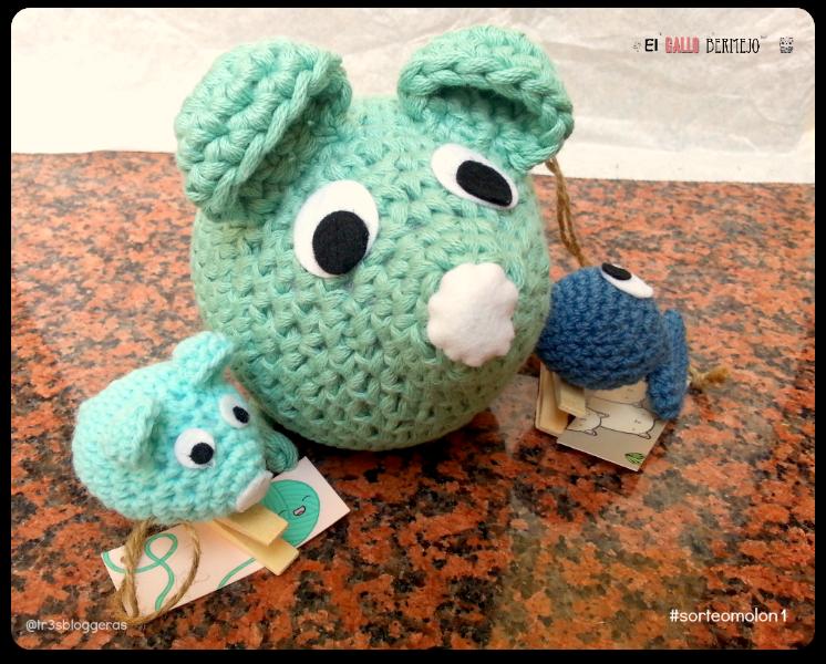 #sorteomolon1 El Gallo Bermejo ratón amigurumi y pinzas