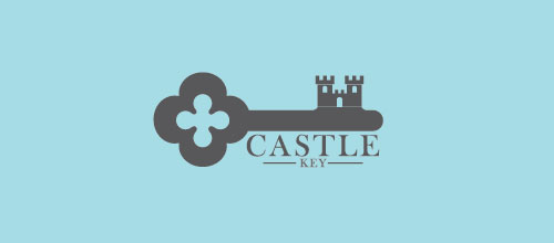Castle Key logo design