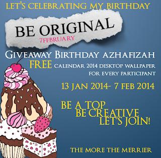 Giveaway Birthday Azhafizah