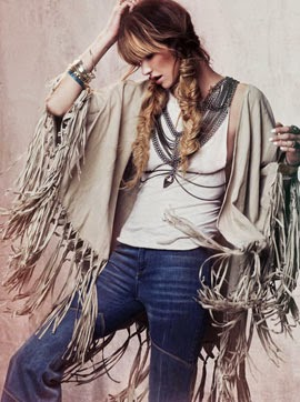 Free People lookbook festival 2014 jeans poncho flecos