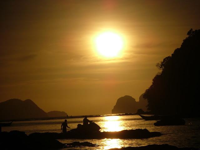 Pôr-do-sol em El Nido Filipinas