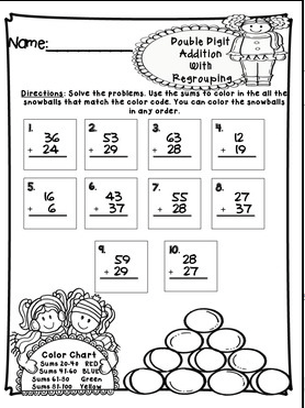 Double Digit Addition Without Regrouping Activities - addition ...