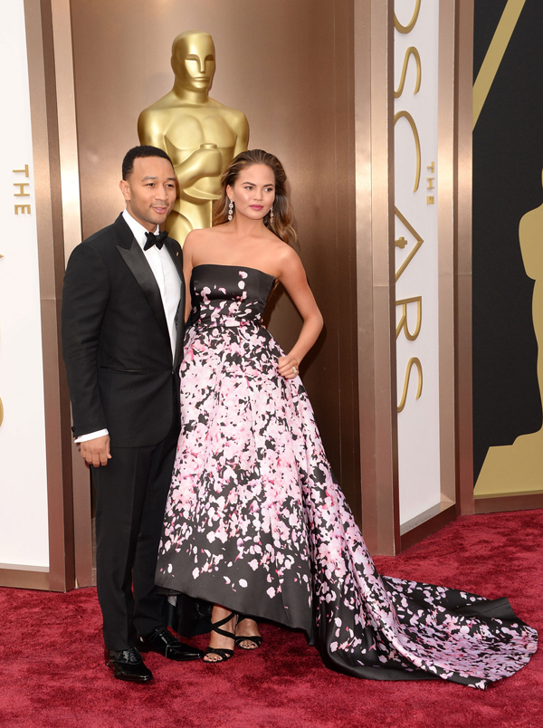 Chrissy Teigen's Oscar 2014 Dress by: Monique Luihllier