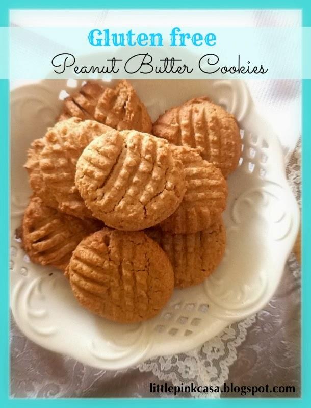 Little Pink Casa: Gluten Free Peanut Butter Cookies