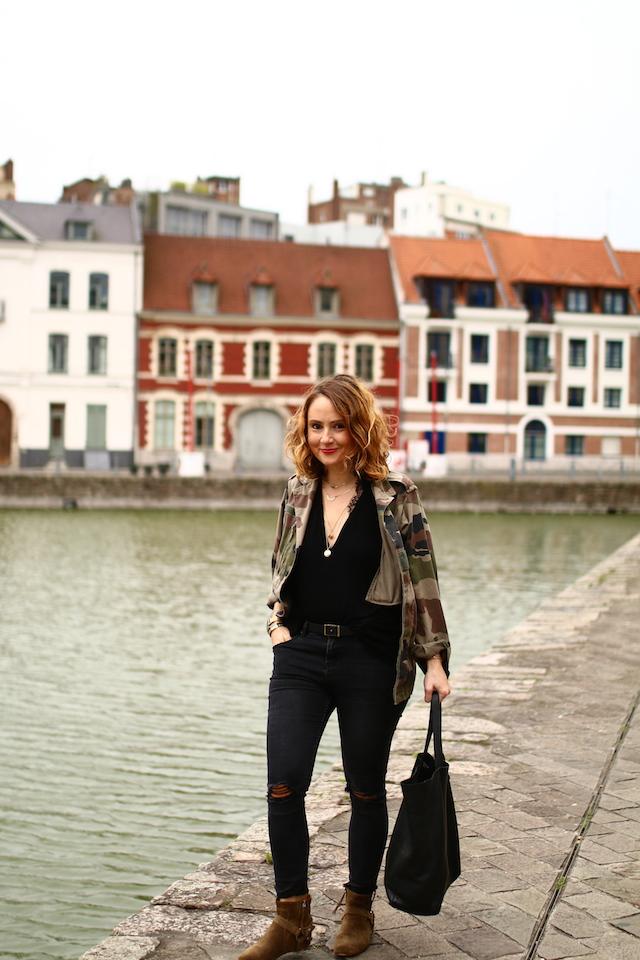 Juste juliette, blog mode, blog mode lille, fashion blogger, lille, isabel marant, raelyn, margaux lonnberg, veste militaire, newlook, cabas printemps