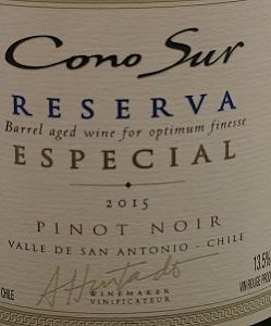 Notre vin de la semaine, un bon pinot noir chilien à 15.10$ !