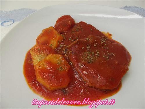 I sapori del cuore carne alla pizzaiola con patate - La cucina del cuore ...