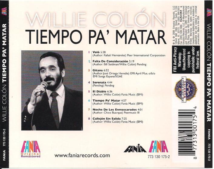 Willie Colon - Tiempo Pa' Matar (1984)