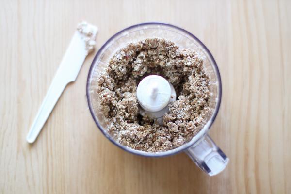 Make cookie dough in a food processor