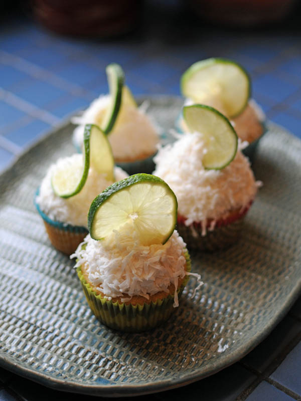 Veggie Burgher: Coconut Lime Cupcakes with Lime Buttercream