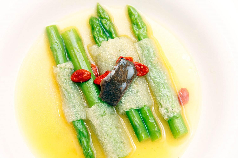 Makati Shangri-La Shang Palace Huaiyang Cuisine Experience By Chef Anthony Dong Braised Bamboo Asparagus