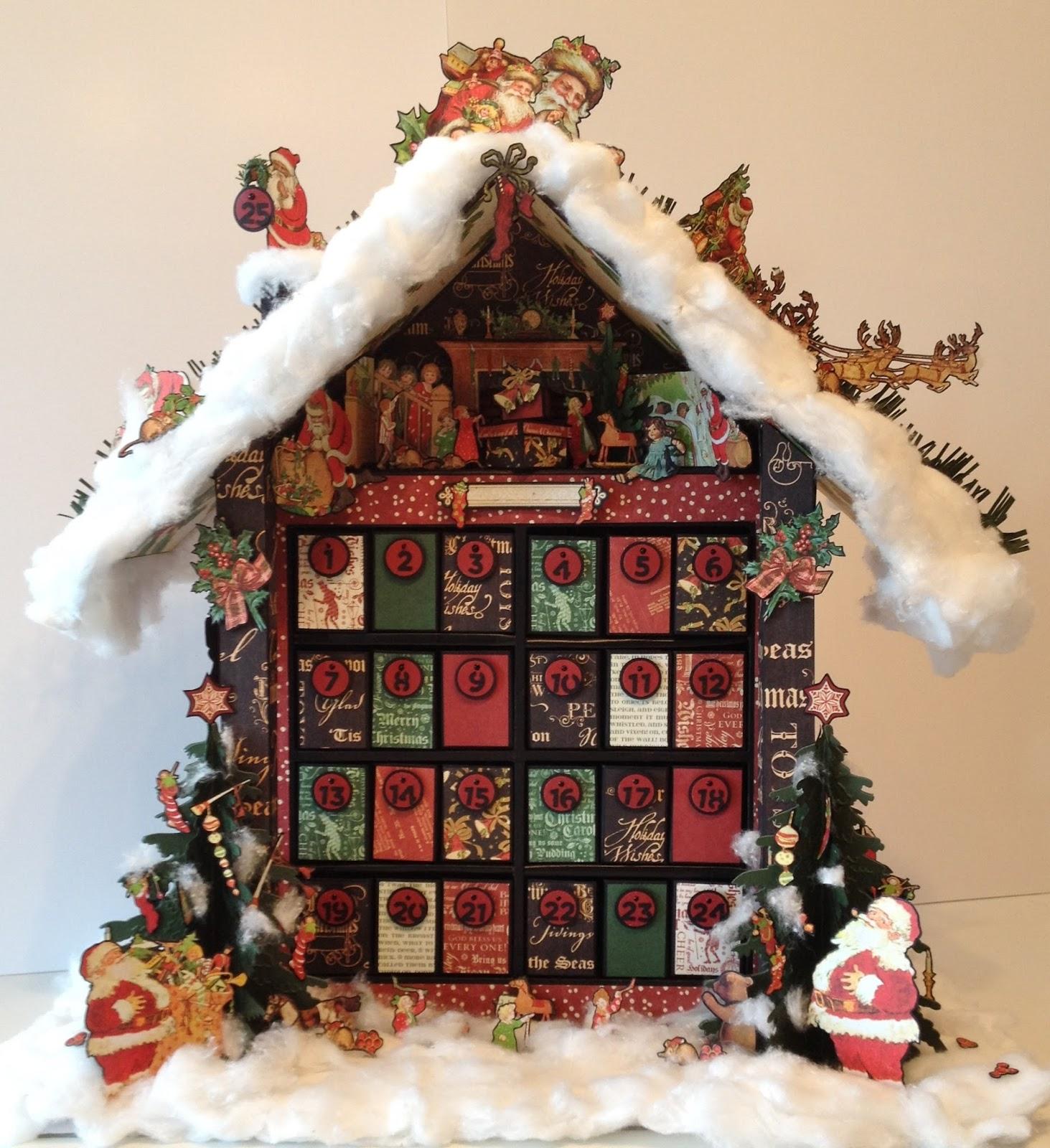 christmas advent calendar cross stitch pattern