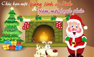 thiệp chúc mừng giáng sinh đẹp