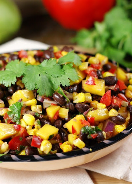 Roasted Corn, Black Bean, & Mango Salsa