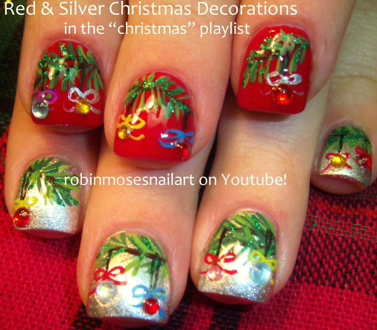 """Blue Christmas Nail Art: Robin Moses Nail Art: """"xmas Nails"""" """"christmas Nails"""