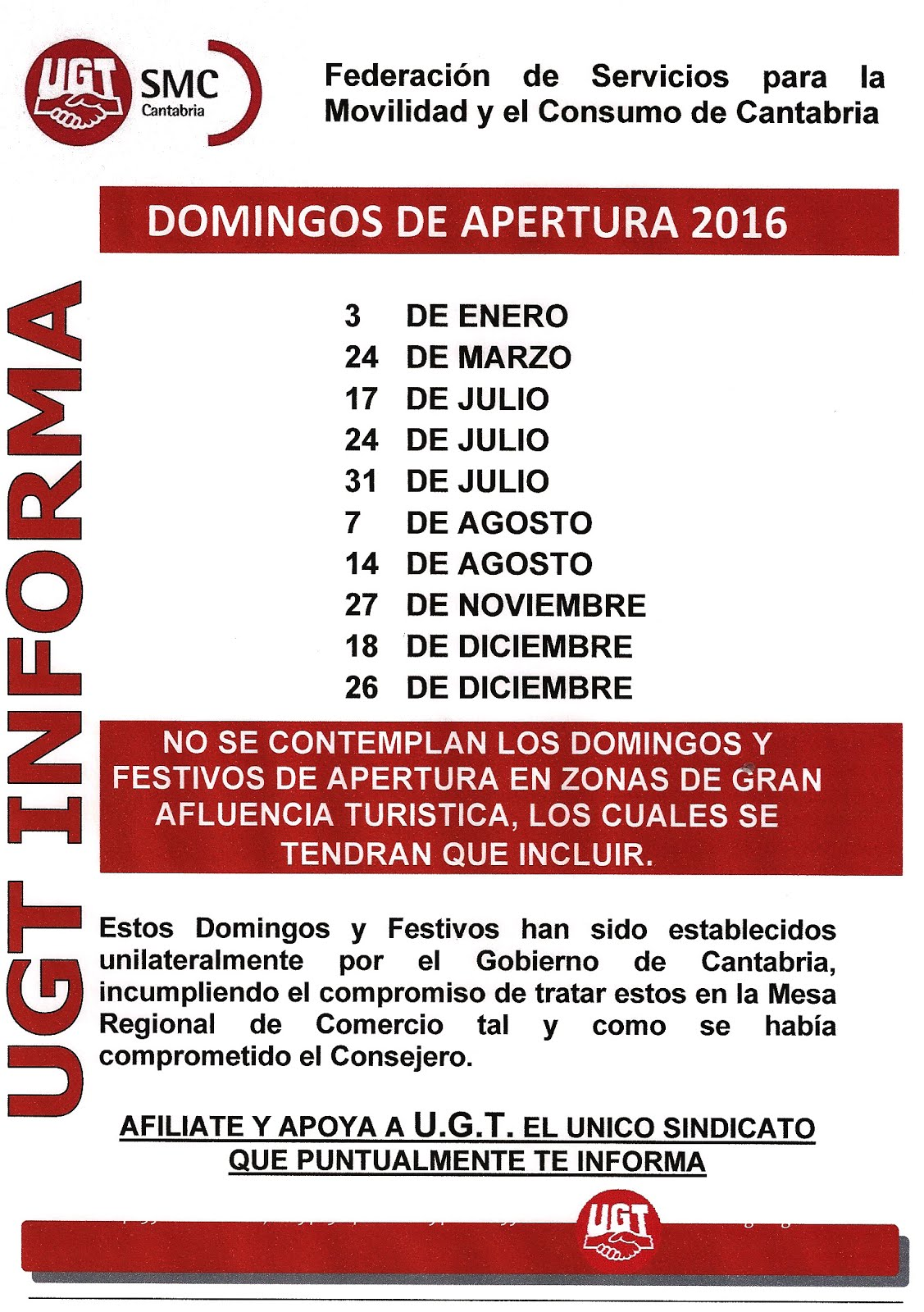 DOMINGOS DE APERTURA 2016