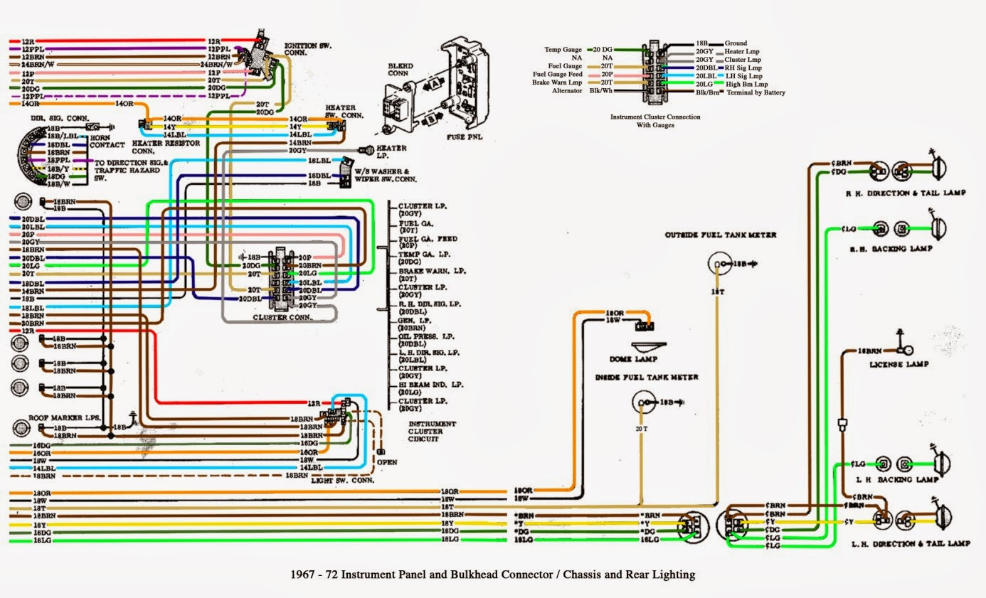 1967 72GMCTruckInstrumentPanelAndBulkheadConnector gmc van wiring diagram chevy express 2500 wiring diagram wiring 1979 Pontiac Wiring Diagram at n-0.co