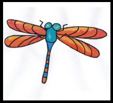 dragonfly, colorful dragonfly, cute easy dragonfly for kids
