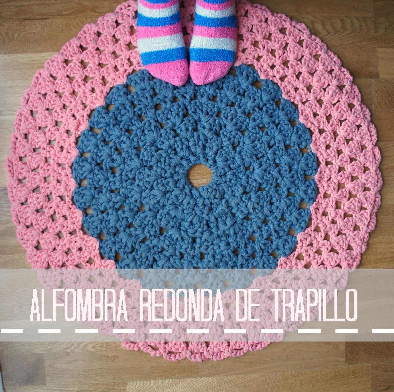 Pinafili diy alfombra redonda de trapillo - Alfombras redondas ...