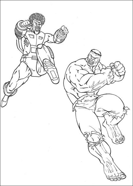 Hulk Avengers Coloring Pages