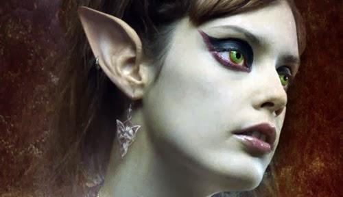 maquillaje para elfa oscura en Halloween
