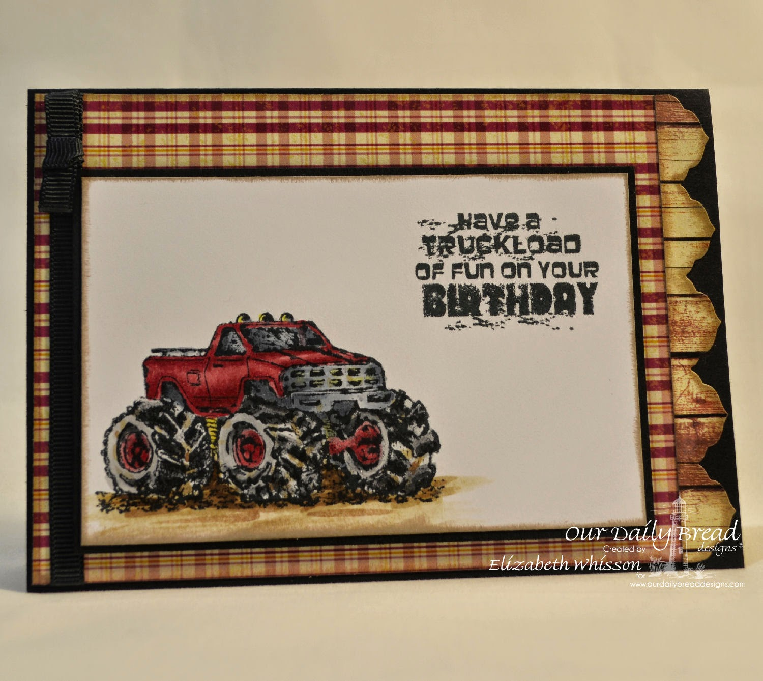 Elizabeth Whisson, Our Daily Bread Designs, ODBDDT, ODBD, Special Boy, monster truck, handmade card, ODBD Antique Labels and Border Dies, ODBD Rustic Beauty Paper Collection, happy birthday, boy card, male card, Copics