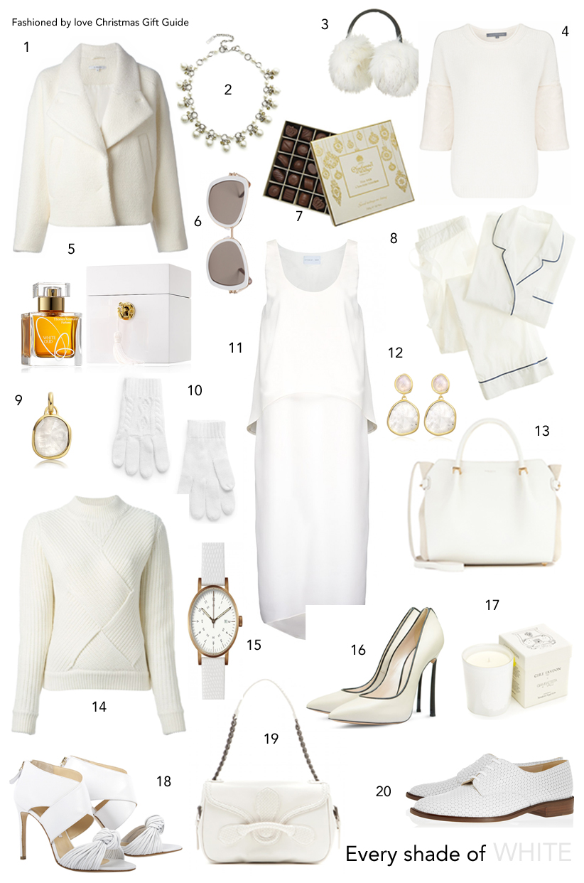 via fashioned by love | christmas gift guide | gifts for her | white
