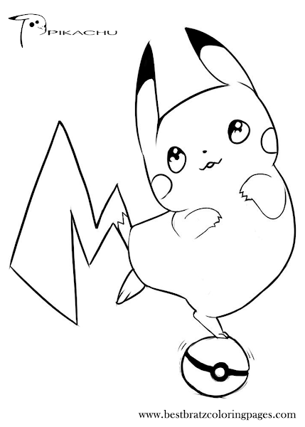 Coloring Pages 4u Pokemon Pikachu Colorings