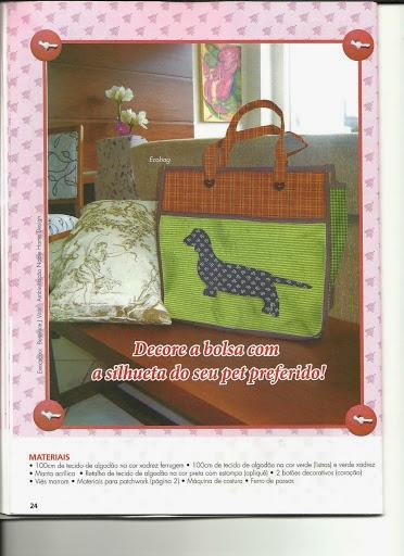 Bolsa em patchwork com cachorrinhos